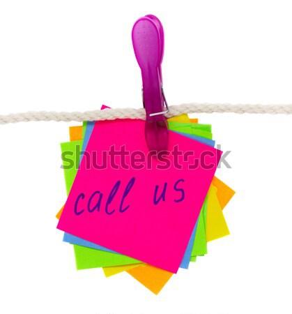 Baba születés rózsaszín zokni üres papír jegyzetek Stock fotó © neirfy