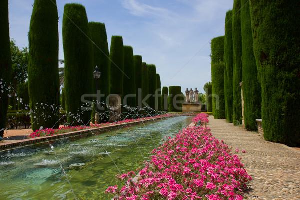 Gardens at the Alcazar in Cordoba, Spain Stock photo © neirfy