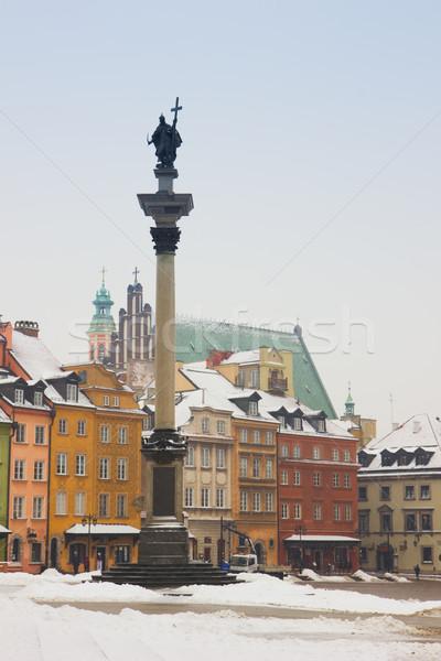 旧市街 広場 ワルシャワ ポーランド 冬 家 ストックフォト © neirfy