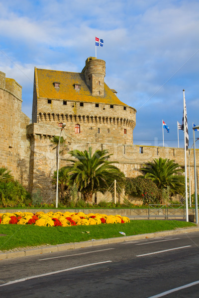 Defensive walls of the city of St. Malo, France Stock photo © neirfy