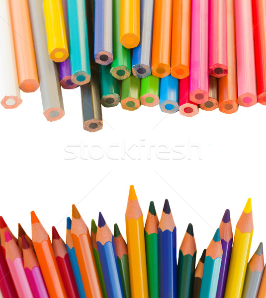 back to schooll borders of pencils Stock photo © neirfy