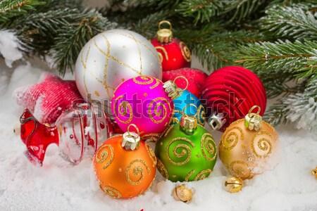 Foto stock: Navidad · verde · blanco