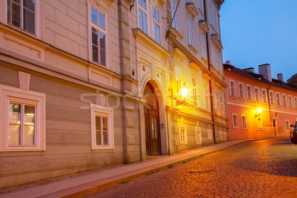 night street, Prague Stock photo © neirfy