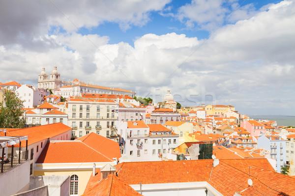 Trimestre Lisboa Portugal linha do horizonte cidade Foto stock © neirfy