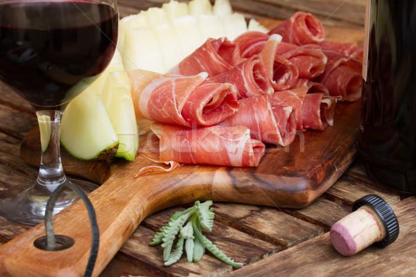 Stok fotoğraf: İspanyolca · tapas · dilimleri · domuz · eti · jambon · kavun