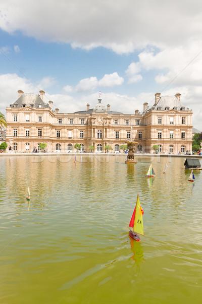 Luxemburg tuin groot vijver Parijs Frankrijk Stockfoto © neirfy