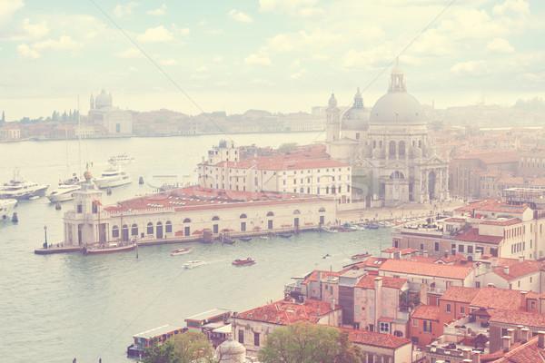 Bazilika mikulás Velence Olaszország csatorna fölött Stock fotó © neirfy