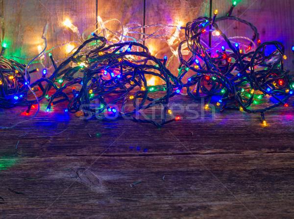 Christmas multicolored lights Stock photo © neirfy