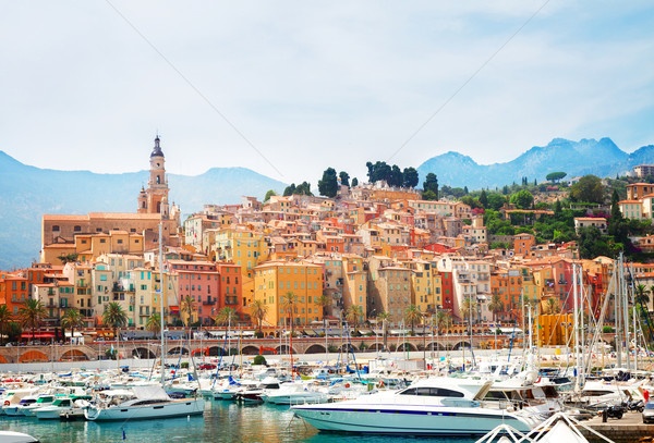 Stock photo: Menton embankment, France