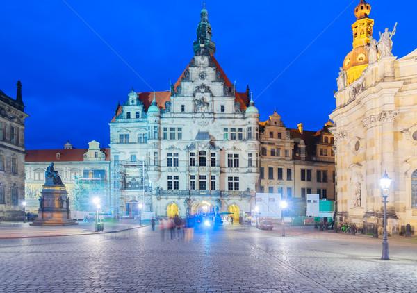 Innenstadt Deutschland beleuchtet Nacht Stadt Stock foto © neirfy