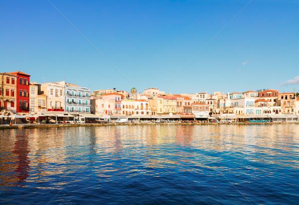 Velencei Görögország marina óváros napos idő égbolt Stock fotó © neirfy