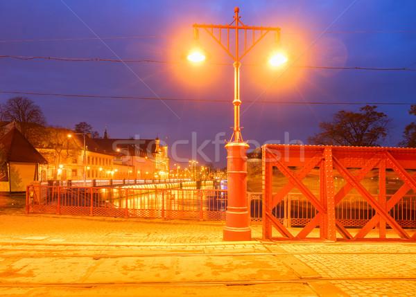 моста острове ночь небе здании город Сток-фото © neirfy