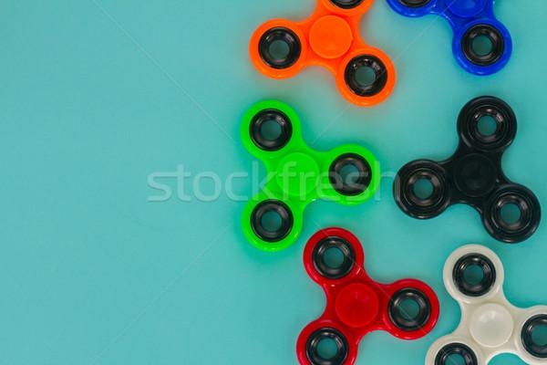 Népszerű megnyugtató játék általános terv kék Stock fotó © neirfy