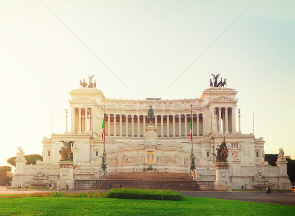 Monument of Victor Emmanuel II, Rome, Italy Stock photo © neirfy