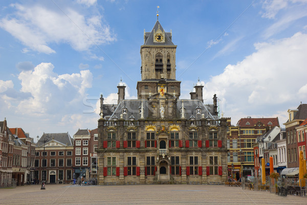 town hall, Delft, Holland Stock photo © neirfy