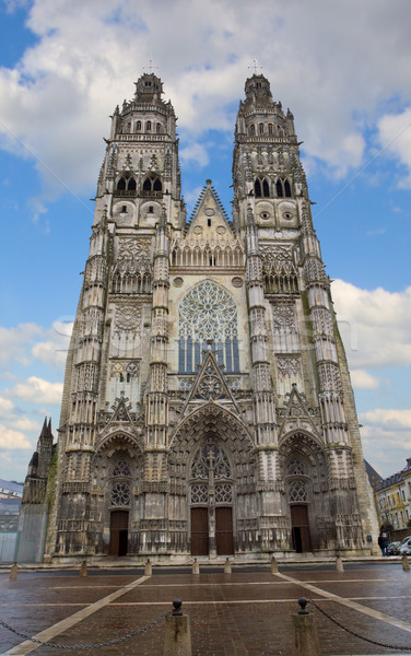 Cathedral St-Gatien, Tours, France Stock photo © neirfy