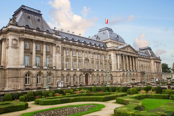 Reale palazzo Bruxelles giardino Belgio città Foto d'archivio © neirfy