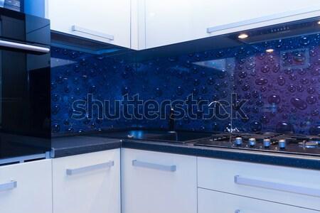 vew of modern kitchen Stock photo © neirfy