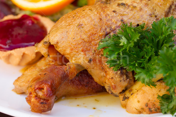 polish national dish - duck with apples  Stock photo © neirfy