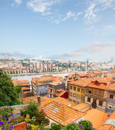 old houses in historic part of town, Porto, Portugal Stock photo © neirfy