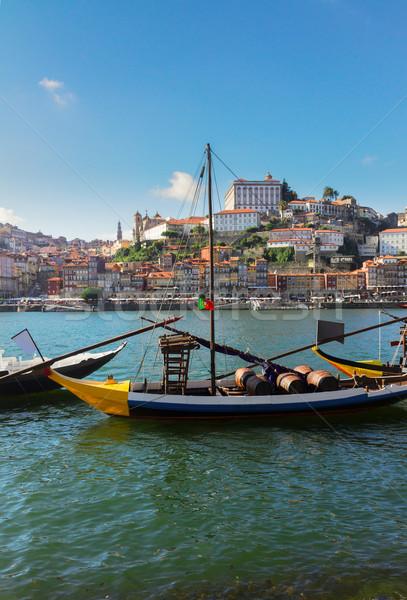 Giorno scena Portogallo città vecchia Hill tradizionale Foto d'archivio © neirfy