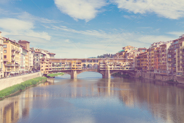 Pont rivière FLORENCE ponts Italie Photo stock © neirfy