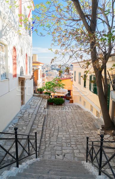 Rua pequeno íngreme escada famoso Foto stock © neirfy