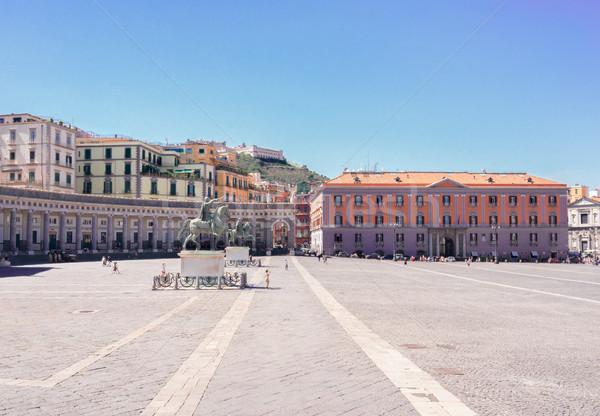 Piazza del Plebiscito, Naples Italy Stock photo © neirfy