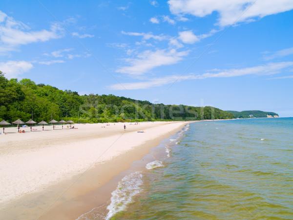 Paesaggio marino Polonia mare costa sabbia bianca estate Foto d'archivio © neirfy