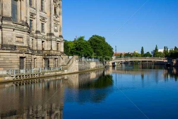 Stock fotó: Múzeum · sziget · Berlin · Németország · folyó · égbolt