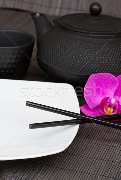 Stock photo: asian food