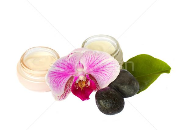 Beauty creams  with spa set Stock photo © neirfy