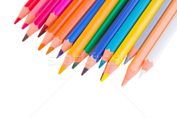 colorful pencils close up Stock photo © neirfy