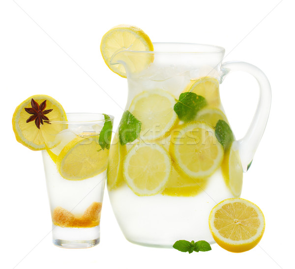 pitcher and glass  of lemonad Stock photo © neirfy