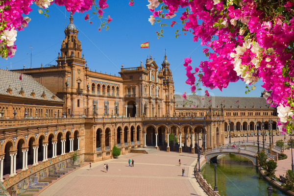 famouse square of Spain in Seville, Spain Stock photo © neirfy