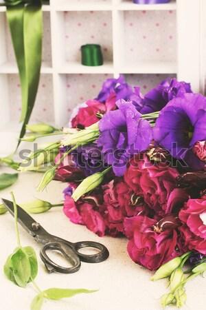 фиолетовый розовато-лиловый цветы свежие Purple Сток-фото © neirfy