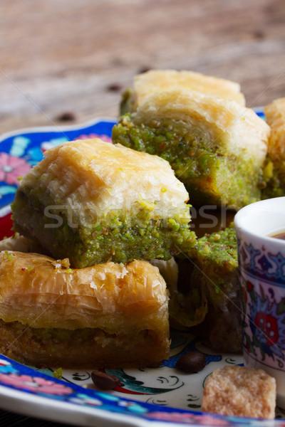 トルコ語 プレート お菓子 カップ コーヒー ストックフォト © neirfy