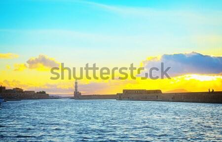 lighthouse of Chania, Crete, Greece Stock photo © neirfy
