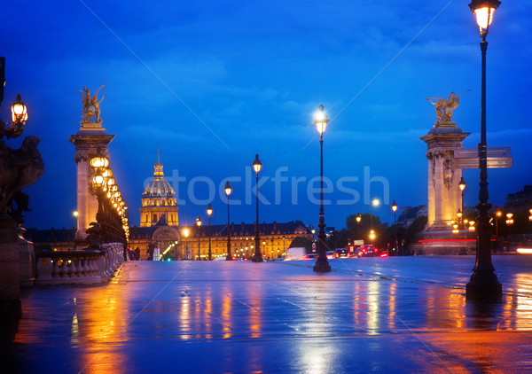 Alexandre III Bridge,  Paris, France Stock photo © neirfy
