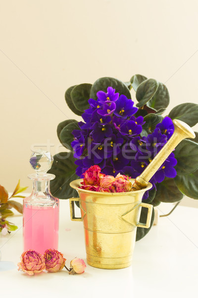 Aromaterapia secar flores fresco vial Foto stock © neirfy