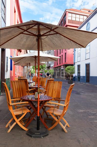 La tenerife ilha Espanha rua café Foto stock © neirfy