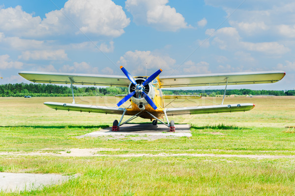 One vintage airplanes Stock photo © neirfy