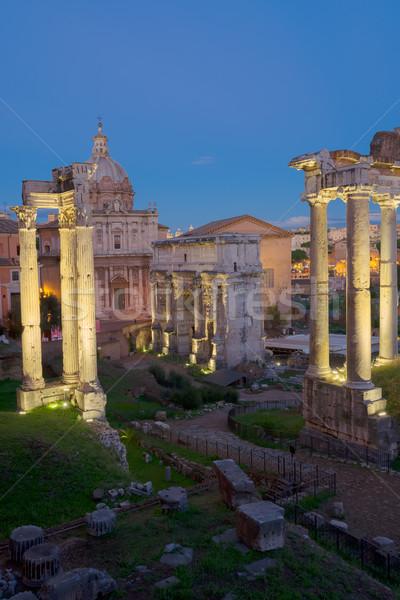Forum romaine ruines Rome Italie anciens Photo stock © neirfy