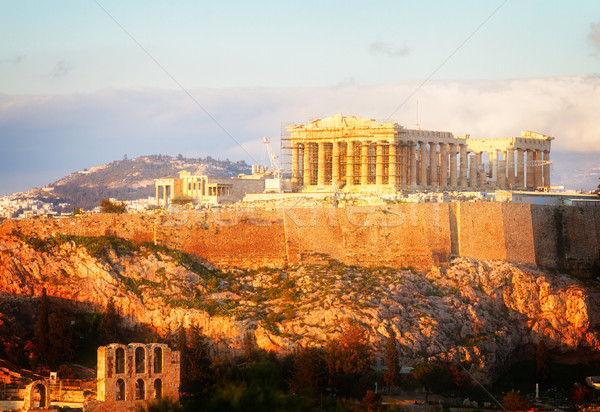 Famous skyline of Athens, Greece Stock photo © neirfy