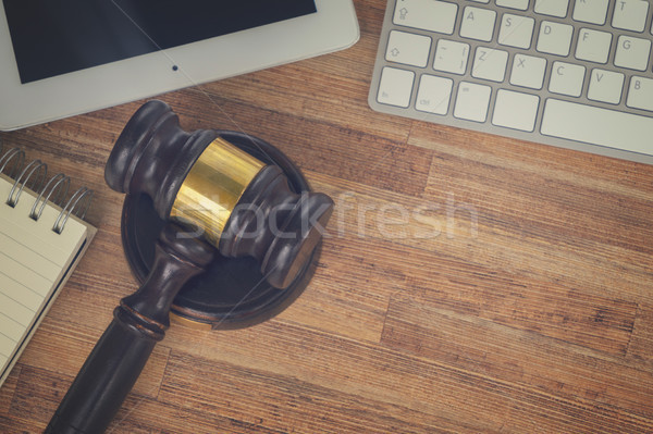 Çalışma alanı kahraman hukuk üst görmek Stok fotoğraf © neirfy