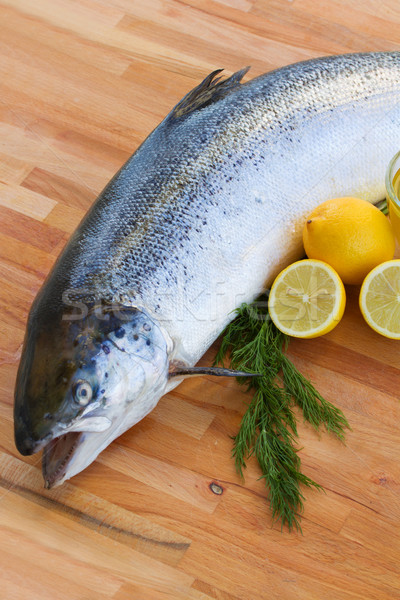 Atlantic Salmon fish close up Stock photo © neirfy