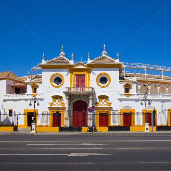 牛 アリーナ スペイン 通り 建設 アーキテクチャ ストックフォト © neirfy