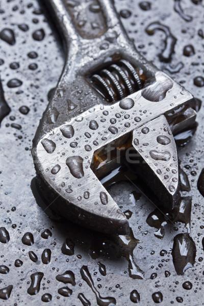 水滴 黒 金属 建設 技術 ストックフォト © neirfy