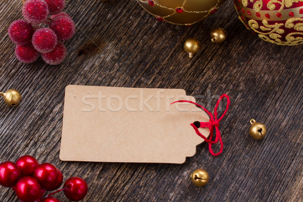 christmas tag  Stock photo © neirfy