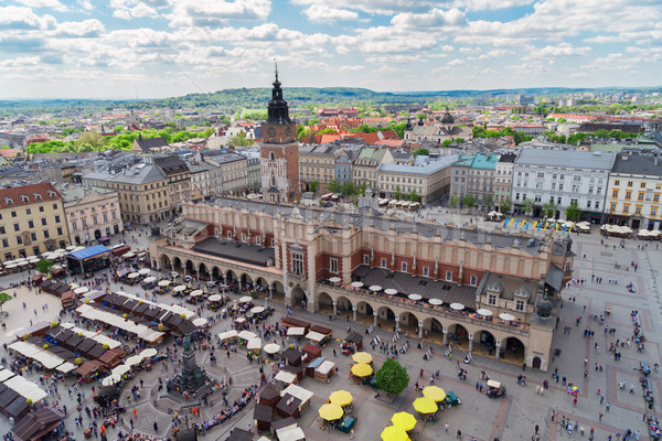 Stock fotó: Piac · tér · Krakkó · Lengyelország · ruha · előcsarnok
